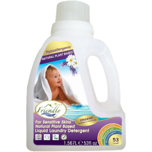 Detergent bio natural pentru hainele bebelusilor si copiilor pe baza de plante 53 spalari